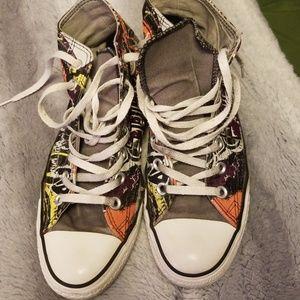 Shoes Converse Size Poshmark 8 High Star All Street Art Tops 7x6O1